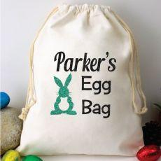 Personalised Easter Egg Hunt Bag Easter Rabbit