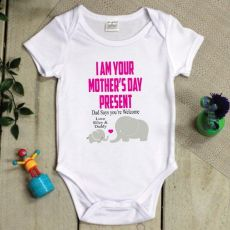 Personalised Mothers Day  Bodysuit -Elephant