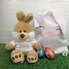 Easter Bunny Plush & Hunt Bag Set Pink