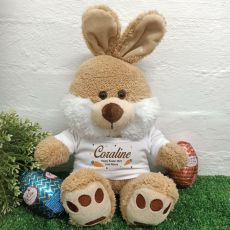 Personalised Easter Bunny Plush Biscuit