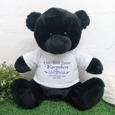 Get Well Bear with Personalised T-Shirt Black 40cm
