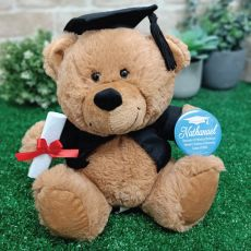 Graduation Brown Teddy Bear with Personalised Badge