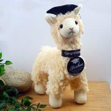 Graduation Llama Plush with Personalised Badge