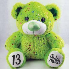 13th Birthday Teddy Bear 40cm Hollywood Green