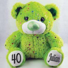 40th Birthday Teddy Bear 40cm Hollywood Green