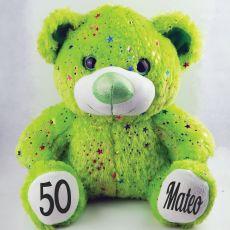 50th Birthday Teddy Bear 40cm Hollywood Green