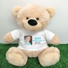 Memorial Photo Bear with T-Shirt 40cm Cream