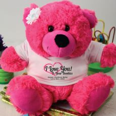 Love Your Naughty Bits Valentines Bear - Hot Pink