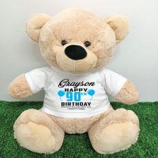 Personalised 90th Birthday Bear Cream 40cm