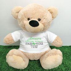 Personalised Newborn Bear 40cm Cream Plush