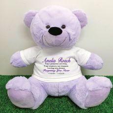 Personalised Memory Teddy Bear 40cm Lavender