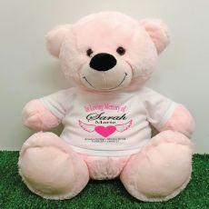 In Loving Memory Teddy Bear 40cm Light pink