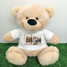 Personalised Photo Teddy Bear 40cm Cream