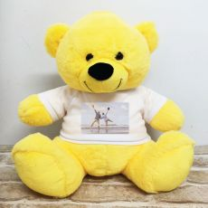 Personalised Photo Teddy Bear 40cm Yellow