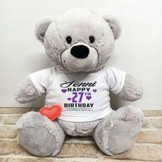 Recordable Birthday Teddy Bear Grey 40cm