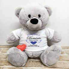 Voice Recordable In Loving Memory Bear - Grey 40cm