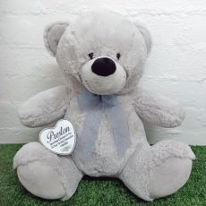 Holy Communion Keepsake Bear with heart Grey 40cm