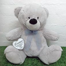 Naming Day Keepsake Bear with heart Grey 40cm