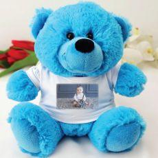Personalised Photo T-Shirt Teddy Bear - Blue
