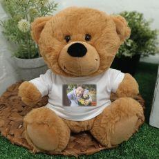 Personalised Photo T-Shirt Teddy Bear Brown