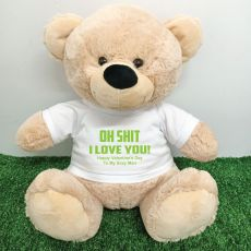 Naughty Love You Valentines Bear - 40cm Cream