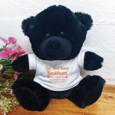 Get Well Teddy Bear Black Plush