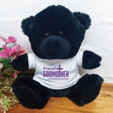 Godmother Personalised Teddy Bear Black Plush