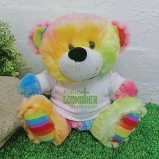 Godmother Teddy Bear Rainbow Plush