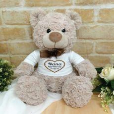 Nana Personalised Shaggy Bear Brown