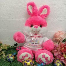 Personalised Easter Bunny Rabbit Plush - Bjay Pink