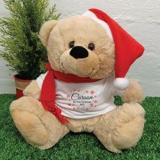 Personalised Christmas Bear - Snowflake