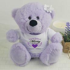 In Loving Memory Memorial Teddy Bear - Lavender