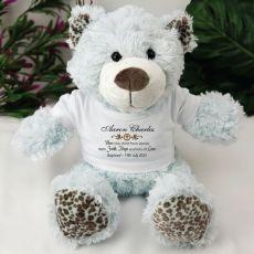 Personalised Baptism Bear Plush