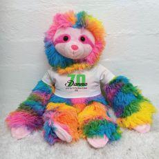 70th Birthday Rainbow Sloth Personalised shirt