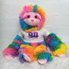 90th Birthday Rainbow Sloth Personalised shirt