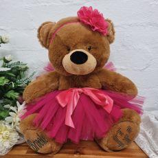 Personalised Ballerina Teddy Bear 40cm Plush Brown