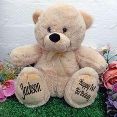 1st Personalised Teddy Bear 30cm Cream