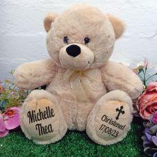 Christening Personalised Teddy Bear 30cm Cream