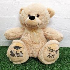 Graduation Personalised Teddy Bear 40cm Plush Cream