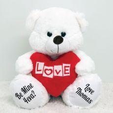 Love Bear With Heart White 30cm