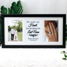 Engagement Gallery Photo Frame 4x6 Typography Print Black