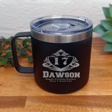 Birthday Black Travel Coffee Mug 14oz (M)