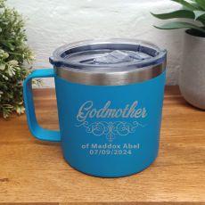 Godmother Travel Tumbler Coffee Mug 14oz Blue