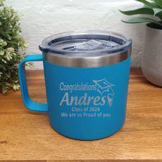 Graduation Travel Tumbler Coffee Mug 14oz Blue