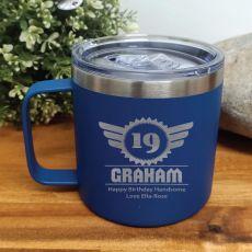 Birthday Cobalt Travel Coffee Mug 14oz (M)