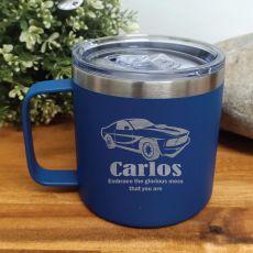 Personalised Cobalt Travel Tumbler Coffee Mug 14oz (M)