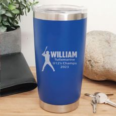 Baseball Coach Engraved Insulated Travel Mug 600ml Dark Blue