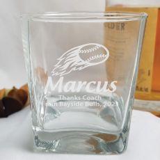 Baseball Coach Engraved Personalised Scotch Spirit Glass