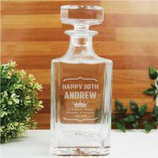 30th Birthday Engraved Personalised Whisky Decanter 700ml
