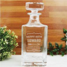 40th Birthday Engraved Personalised Whisky Decanter 700ml